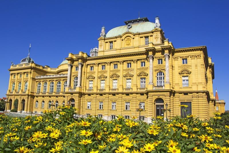 Teatro nacional croata em Zagreb fotos de stock royalty free