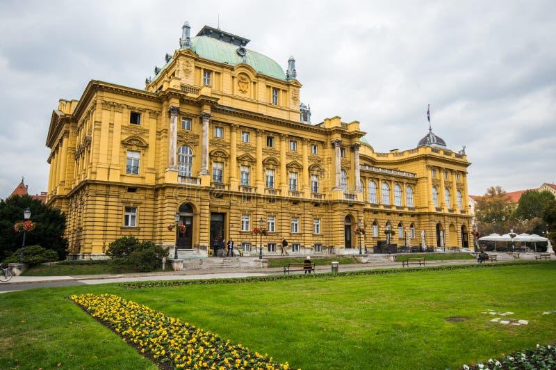 Teatro nacional croata en Zagreb foto de archivo