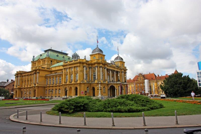 Teatro nacional croata en Zagreb imagen de archivo libre de regalías