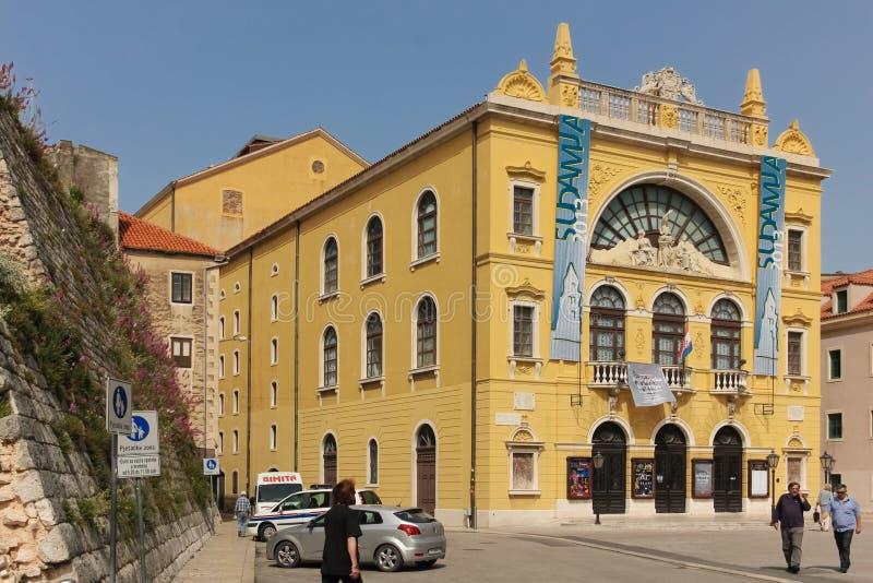 Teatro nacional croata fractura Croacia imágenes de archivo libres de regalías