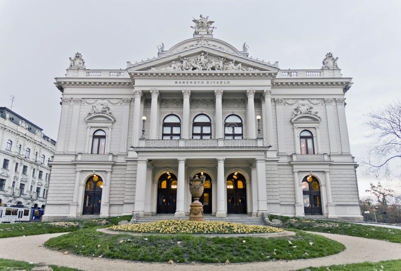 Teatro nacional de Brno, República Checa imagen de archivo libre de regalías