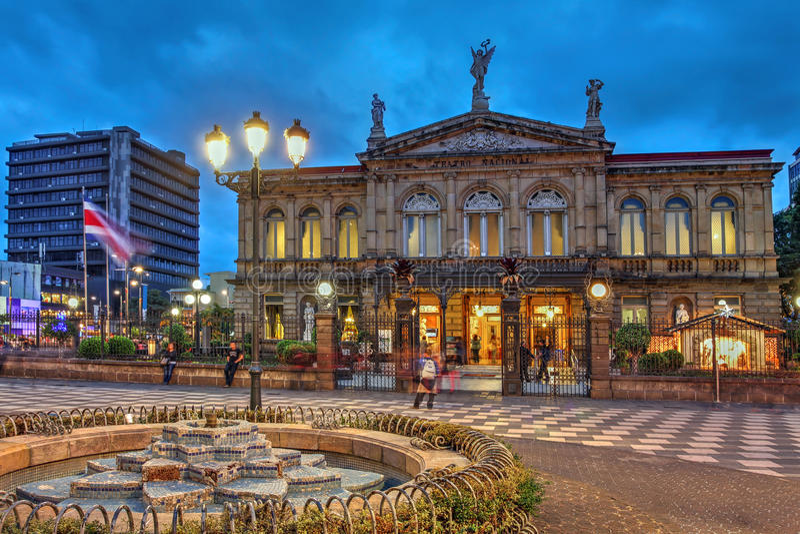 Teatro nacional de Costa Rica em San Jose fotografia de stock royalty free
