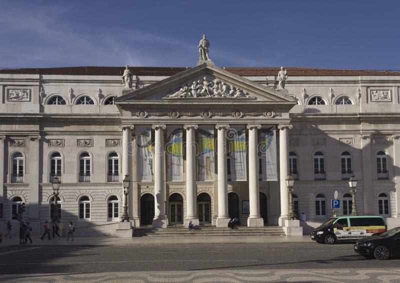 Teatro nacional de Dona Maria II foto de stock royalty free