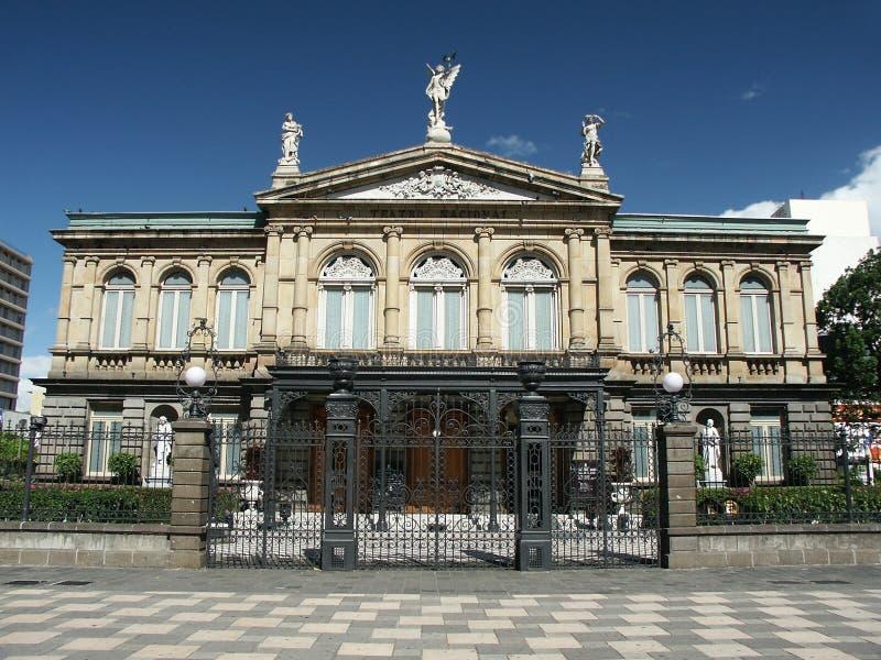 Teatro nacional de Rican de la costa imagen de archivo