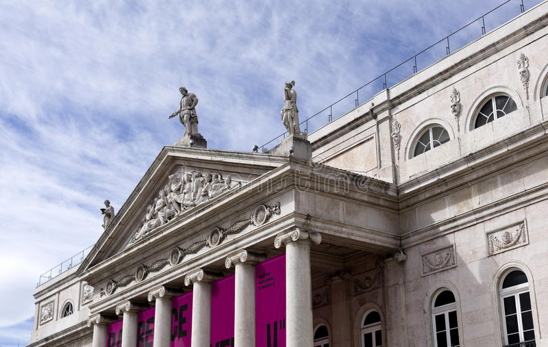 Teatro nacional Dona Maria II foto de stock royalty free