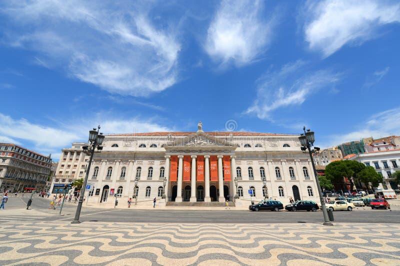 Teatro nacional Dona Maria II, Lisboa, Portugal fotos de stock royalty free