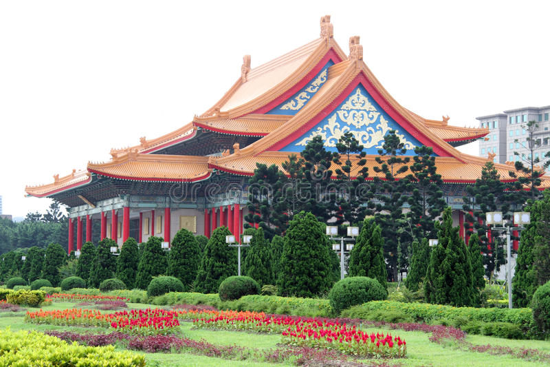 Teatro nacional em Taipei, Formosa fotos de stock royalty free