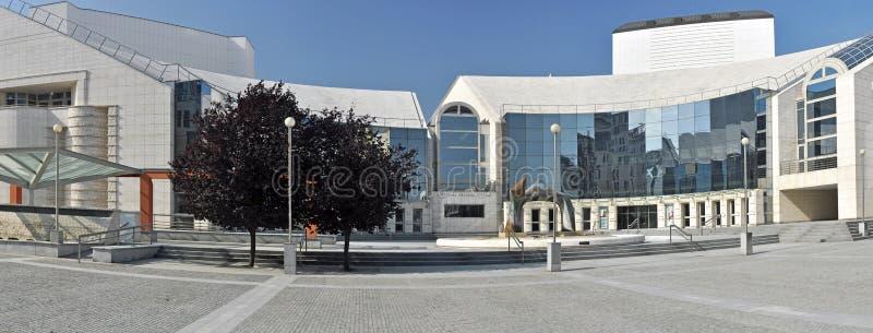 Teatro nacional eslovaco imagem de stock