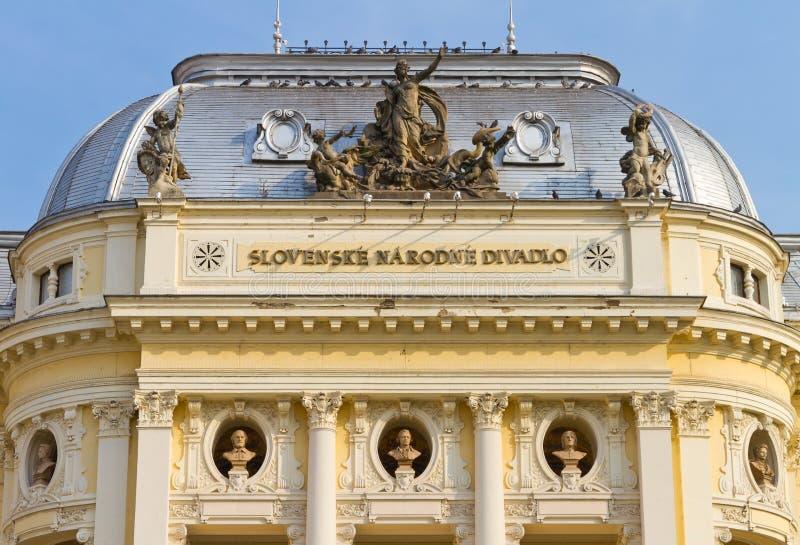 Teatro nacional eslovaco fotografia de stock