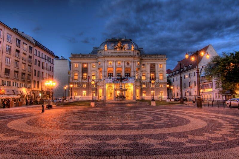 Teatro nacional eslovaco em Bratislava foto de stock