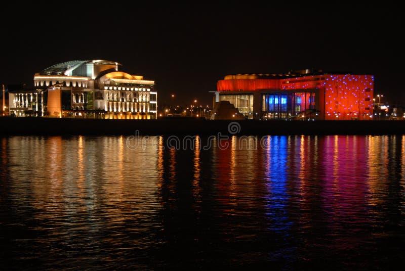 Teatro nacional húngaro foto de stock royalty free