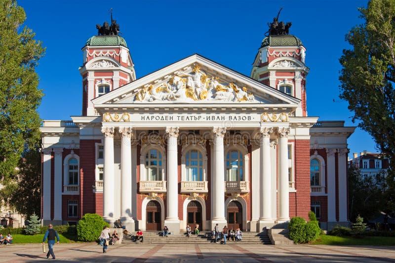 Teatro nacional Ivan Vazov imagem de stock royalty free