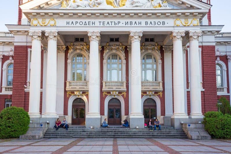 Teatro nacional Ivan Vazov fotografia de stock royalty free