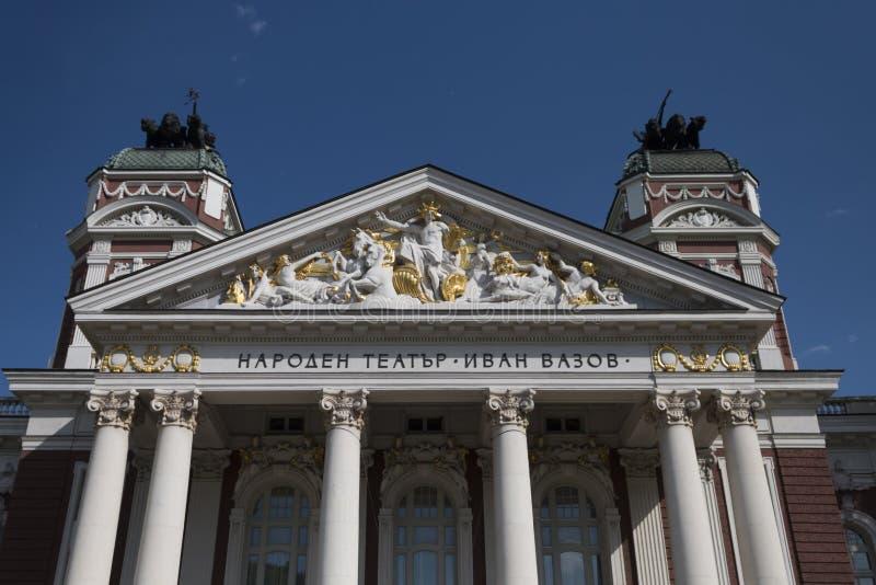 Teatro nacional Ivan Vazov, Sófia, Bulgária fotos de stock royalty free