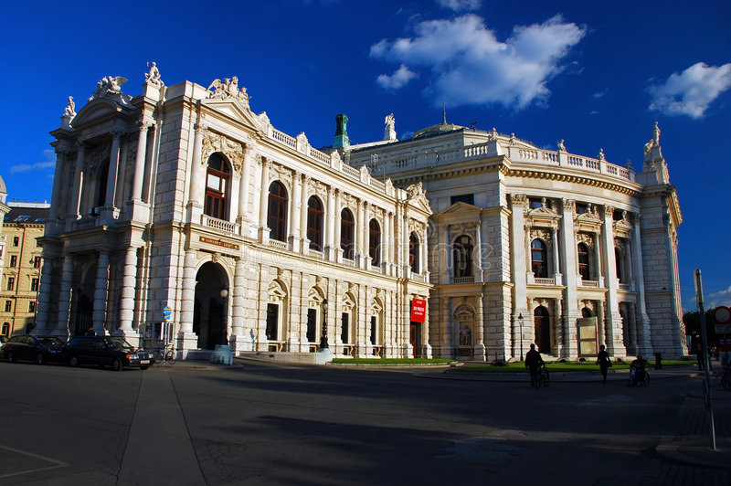 Teatro nazionale austriaco, Vienna fotografie stock libere da diritti