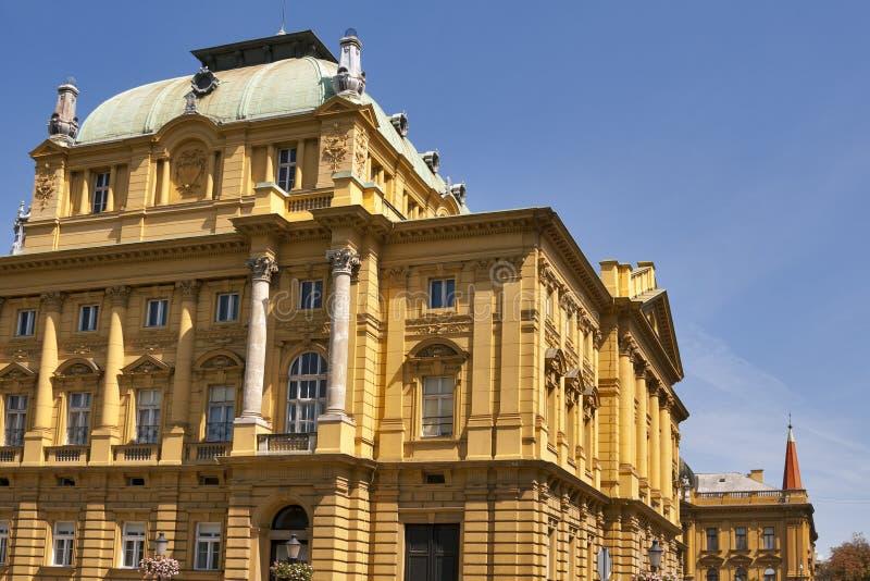 Teatro nazionale croato fotografie stock