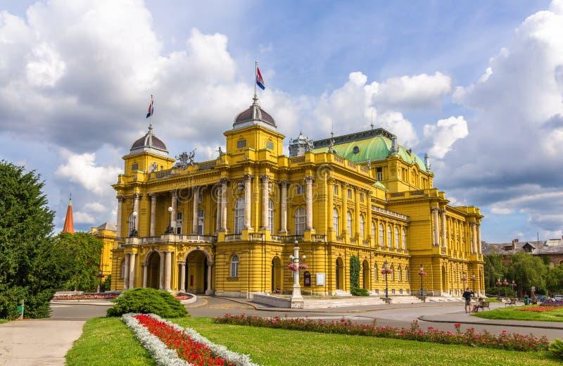 Teatro nazionale croato fotografia stock