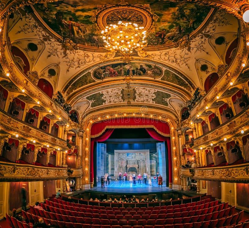 Teatro nazionale croato HNK fotografie stock