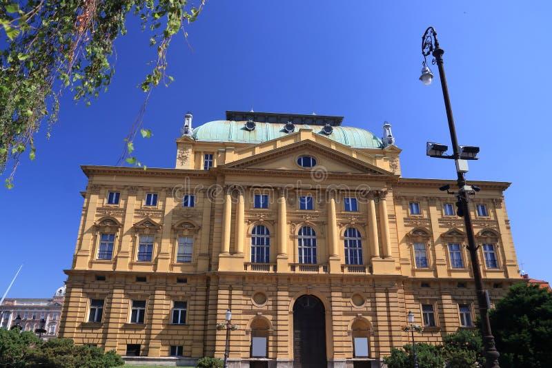 Teatro nazionale croato immagine stock libera da diritti