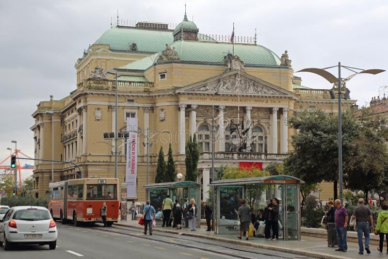 Teatro nazionale di Rijeka immagine stock libera da diritti