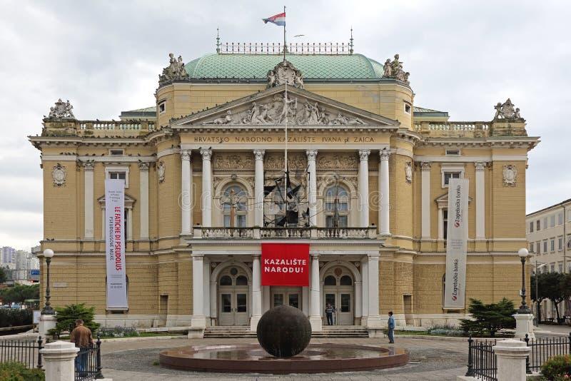Teatro nazionale Rijeka immagine stock libera da diritti