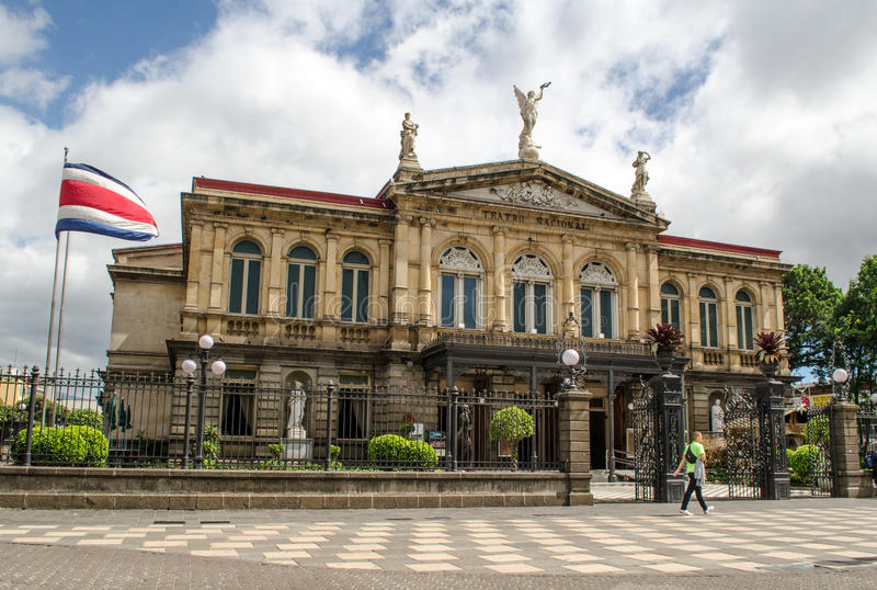 Teatro nazionale in San José - Costa Rica immagine stock