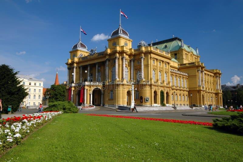 teatro nazionale Zagabria del croatia fotografia stock libera da diritti