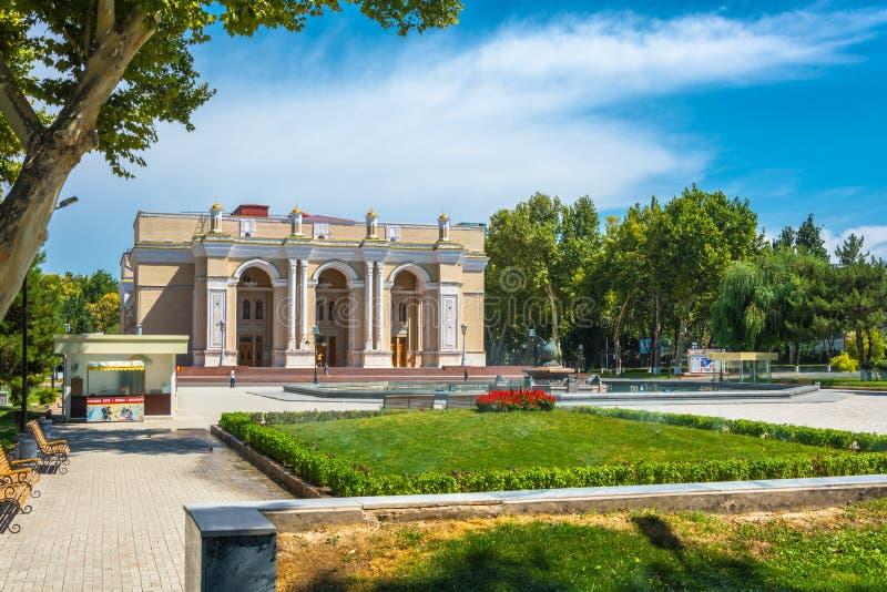 Teatro nombrado después de Alisher Navoi en Tashkent, Uzbekistán foto de archivo libre de regalías
