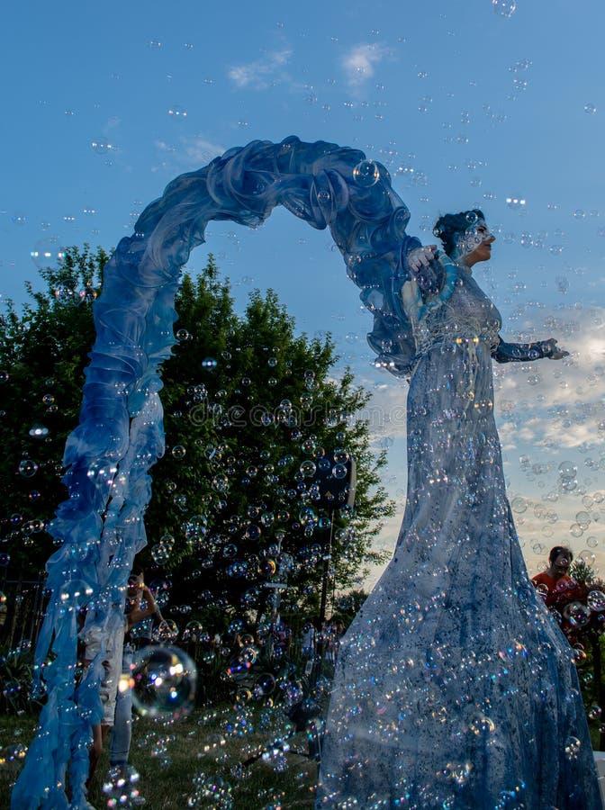 Teatro - o anjo azul fotos de stock royalty free