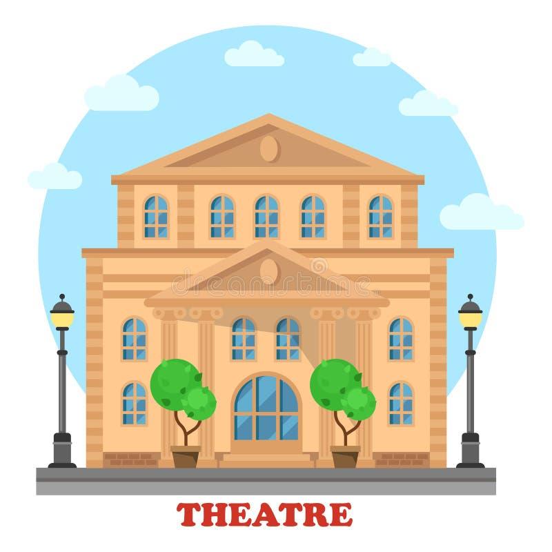 Teatro o entretenimiento magnífico de Buildingfor stock de ilustración