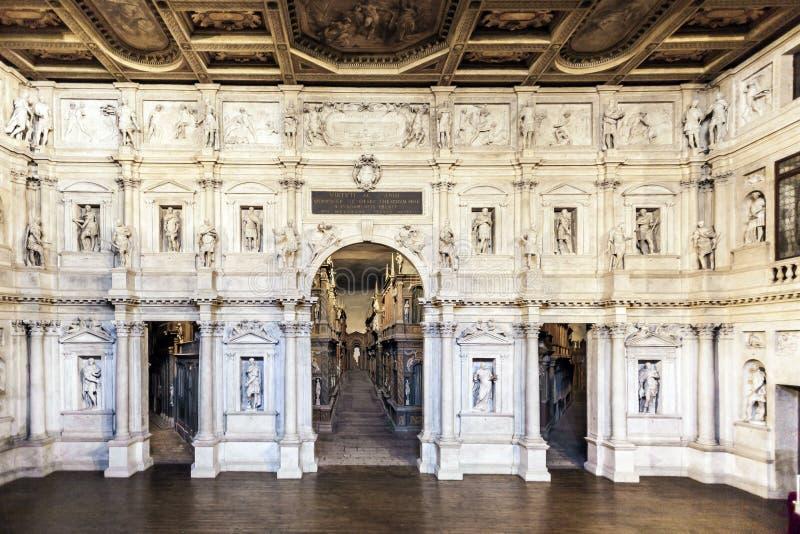 Teatro Olimpico в Vicenca стоковые фото