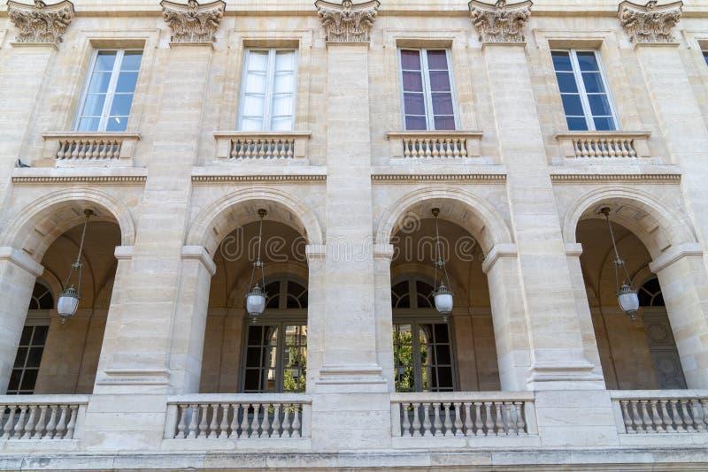 Teatro Opera nacional da vista lateral do Bordéus França imagem de stock royalty free