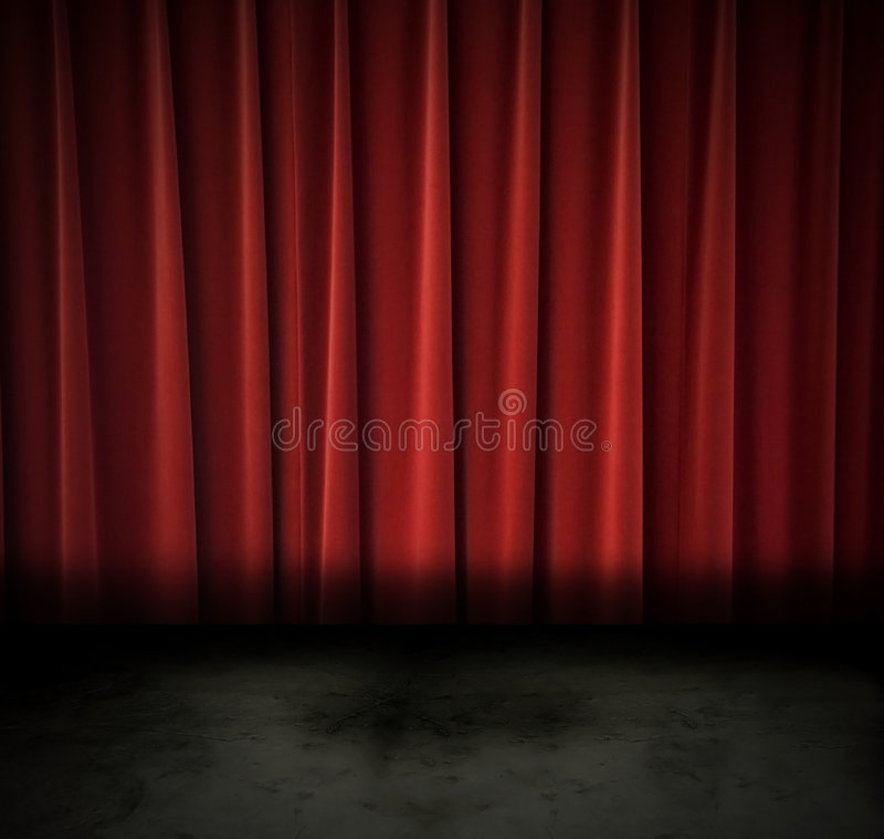 Teatro oscuro foto de archivo libre de regalías