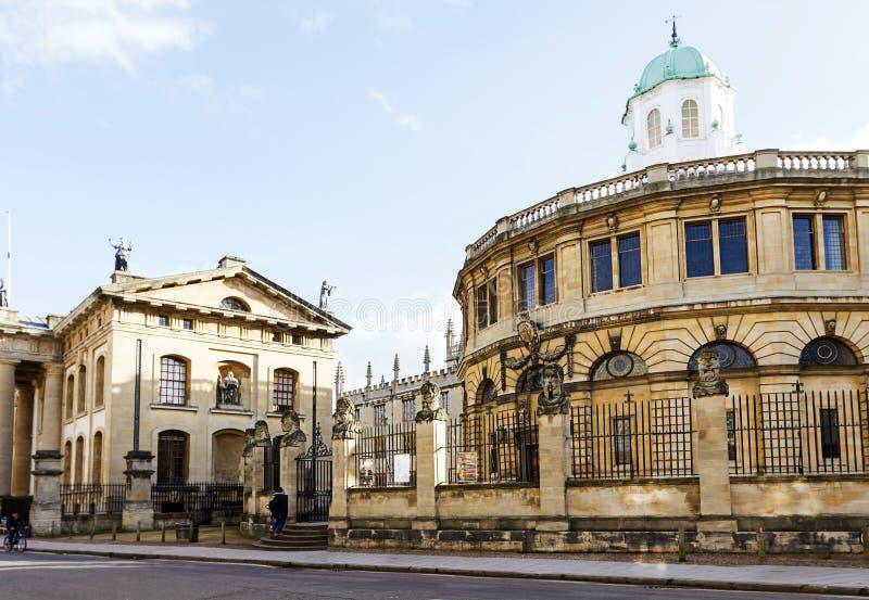 Teatro Oxford de Sheldonian fotos de stock royalty free