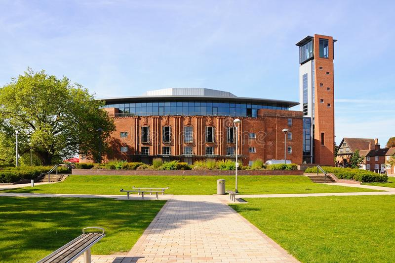 Teatro real de Shakespeare, Stratford-sobre-Avon imagenes de archivo