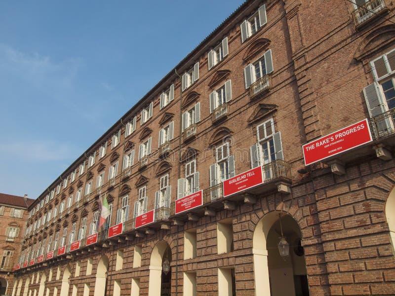 Teatro real de Teatro Regio en Turín fotografía de archivo libre de regalías