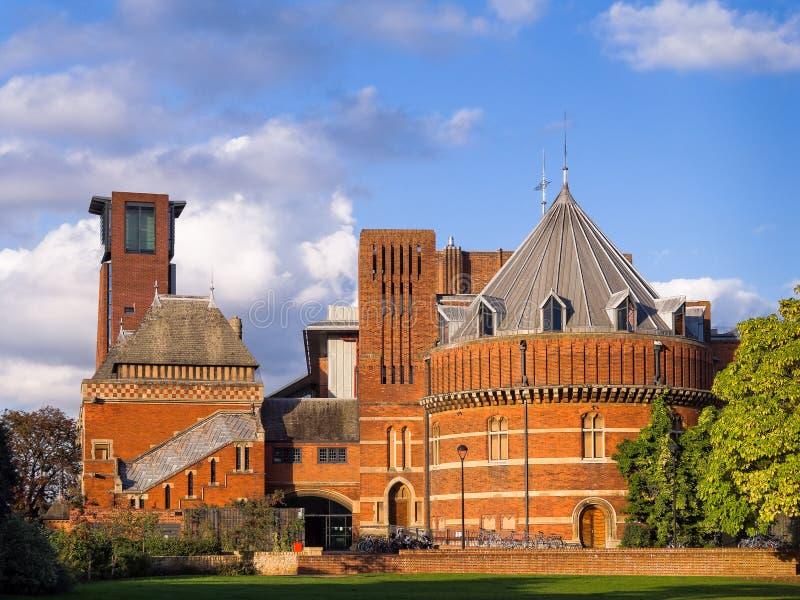Teatro real Stratford de Shakespeare en Avon imagenes de archivo
