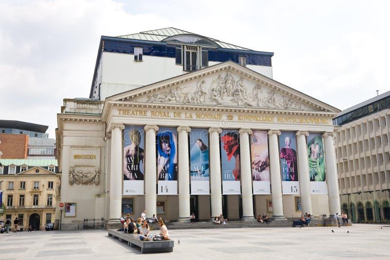 Teatro reale della menta, Belgio fotografia stock
