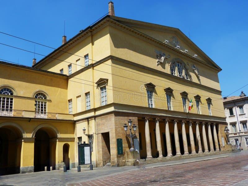 Teatro Regio, teatro de la ópera en Parma, Italia imágenes de archivo libres de regalías
