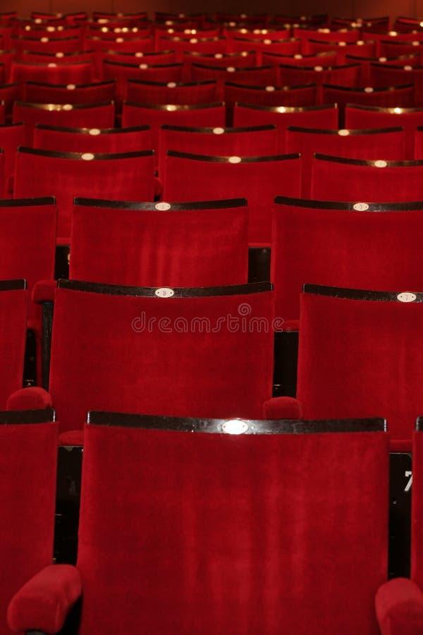 Teatro rojo imagen de archivo libre de regalías