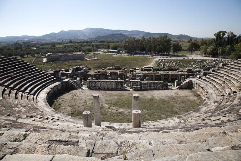 Teatro romano antico a Mileto in del sud fotografia stock libera da diritti