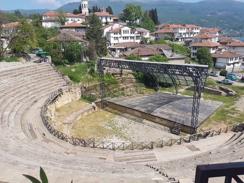 Teatro romano antiguo, 2000 años foto de archivo libre de regalías