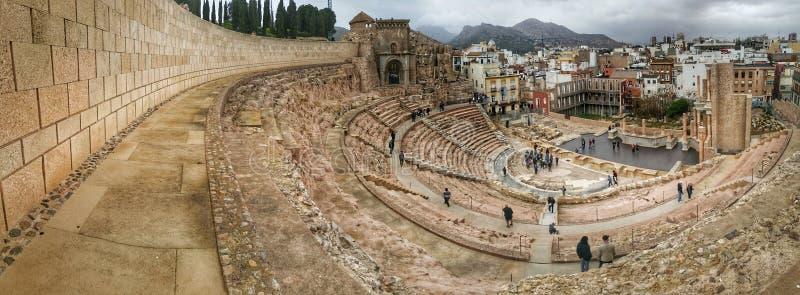 Teatro romano a Cartagine immagini stock libere da diritti