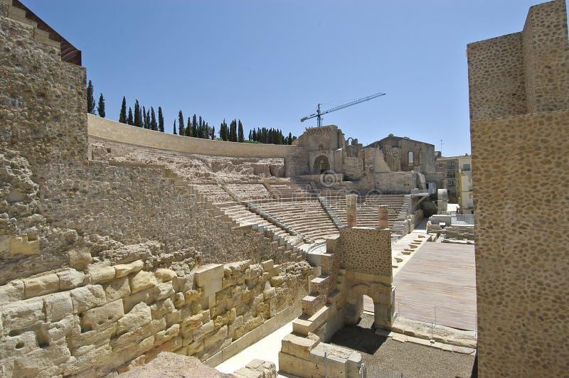 Teatro romano, Cartagine fotografie stock libere da diritti