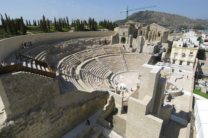 Teatro romano a Cartagine, immagini stock