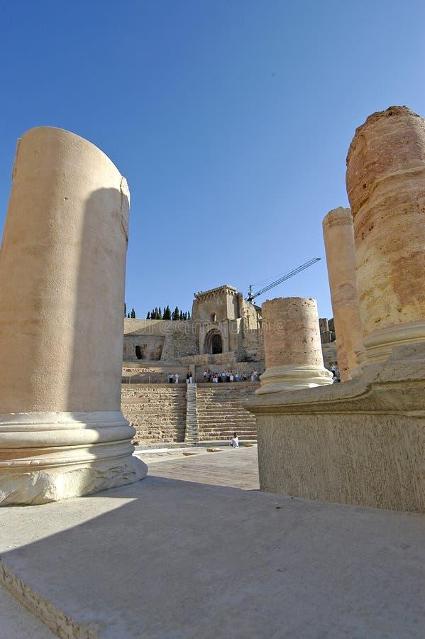 Teatro romano, Cartagine immagini stock libere da diritti