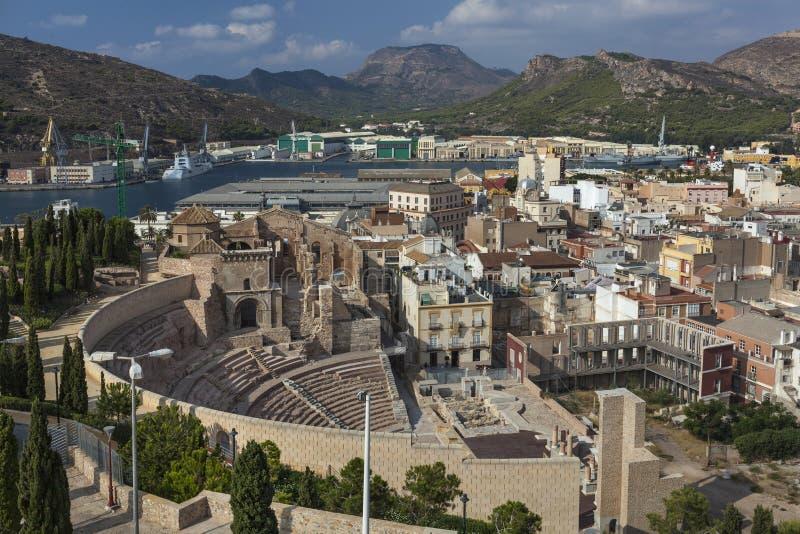 Teatro romano a Cartagine, Spagna fotografia stock libera da diritti