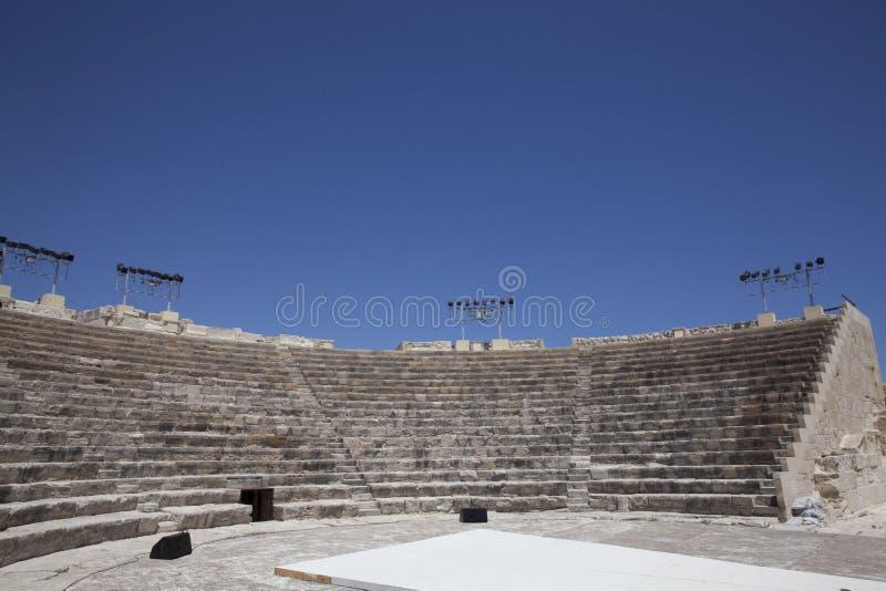 Teatro romano de Kourion imagem de stock