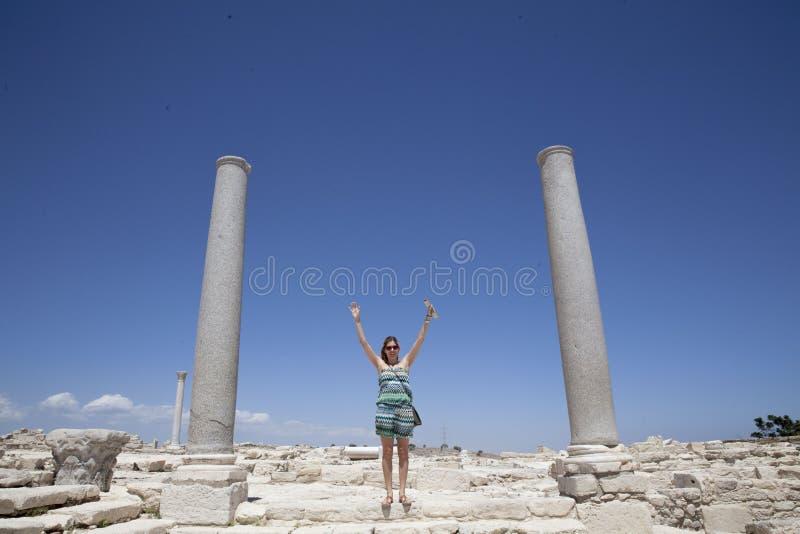 Teatro romano de Kourion foto de stock