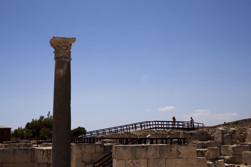 Teatro romano de Kourion fotografia de stock